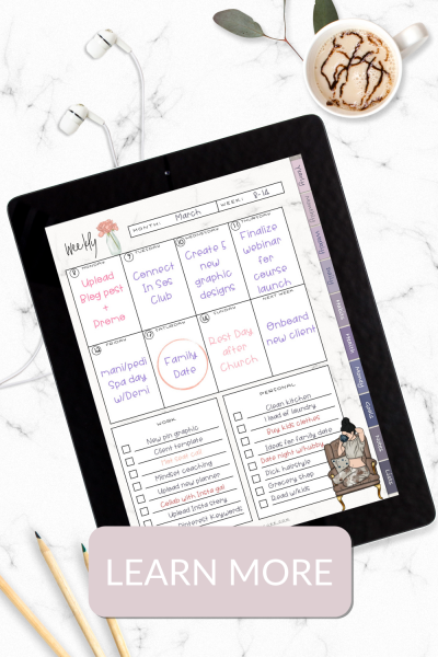 Marie McGee blog digital planner